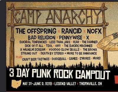 Camp Anarchy 2 Weekend Passes 3 Day Festival in Thornville, Ohio
