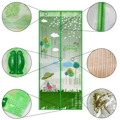 Magic Curtain Door Mesh Magnetic Hands Free Fly Mosquito Bug Insect Screen NEW