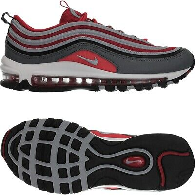 low cost 35fba 9acce Nike Air Max 97 grey red Men s Low-Top sneakers casual shoes trainers NEW
