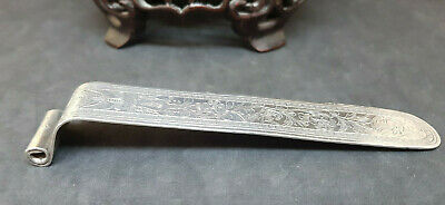 Antique Solid Silver Chinese Export Book Mark 29.4 G.