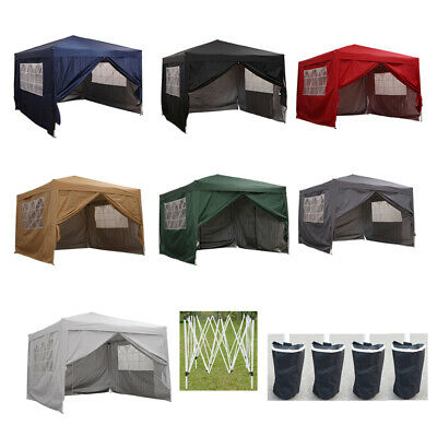3x3m Waterproof Pop Up Gazebo Garden Awning Outdoor Marquee Canopy Party Tent