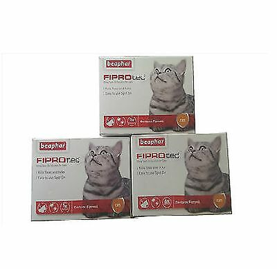 Beaphar Fiprotec Gatto Antipulci Spot On Fipronil Veterinario Vigore 1,3,6