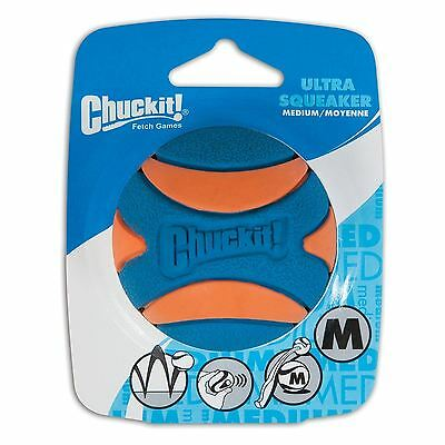 Chuckit Ultra Squeaker Ball 1 Paquete Mediano