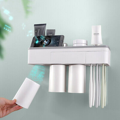 Toothbrush Toothpaste Tumbler Holder Bathroom Accessory Shelf Rack Organiser