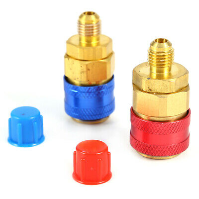 R134a Car Quick Coupler Connector Brass Adapters Low & High Side AC Manifold New