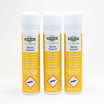 Petsafe Innotek Citron Citronnelle 3 Cans - Anti Bark Baskets Col Recharge Spray