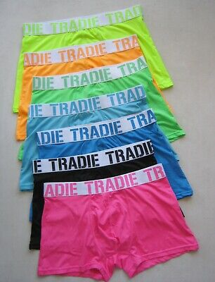 Pack Of 3  Men's Tradie Underwear Quick Dry Trunk Fluro