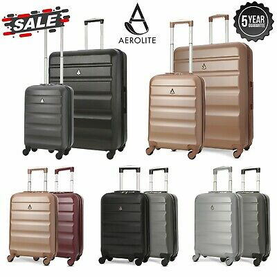Ryanair EasyJet ABS Hard Shell Hold Luggage & Carry On Cabin Bag Luggage Sets