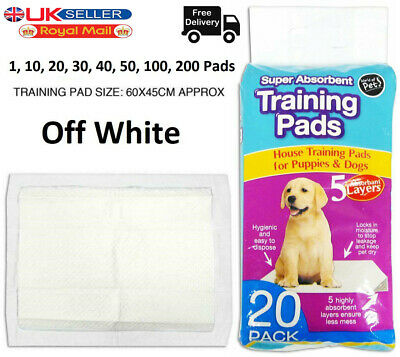 Puppy Extra Large Training Pads Pad Wee Wee Floor Toilet Mats 60 x 45cm 200 uk
