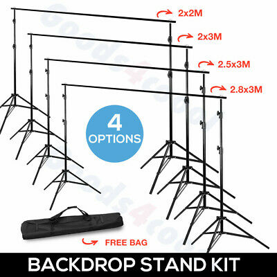 Photo Studio Backdrop Background Support System Stand Telescopic Crossbar 4 Size