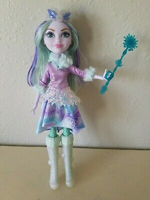 EVER AFTER HIGH DOLL SHOES EPIC WINTER CRYSTAL WINTER WHITE IRIDESCENT BOOTS