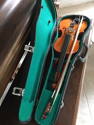 Vintage Anton Breton Violin With Bow And Hard And Soft Case. Great Shape