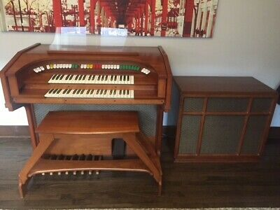 ALLEN ORGAN THEATER Compact -- MCM Walnut with Gyrophonic Speaker