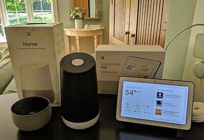 """Google Home Hub 7"""" Display and Google Assistant Speaker with Battery Combo"""