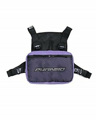 Black Pyramid Fashion Chest Front Pack Pouch Holster Rig, Purple, OS