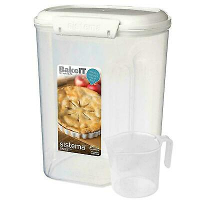 Sistema Bake IT Bakery Food Storage Container with Cup/Scoop, 3.25L, Sugar/Flour