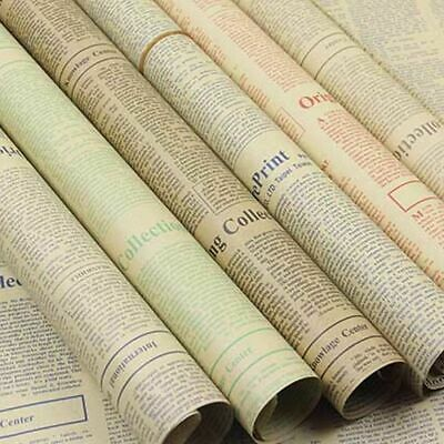 Wrapping Paper Roll Vintage Newspaper Double Sided Gift Wrap Creative Decor 1Pcs