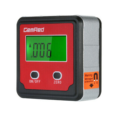 GemRed Level Box Angle Gauge Digital Angle Finder Inclinometer Level X2S4