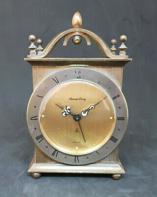 Antique Armand Leroy French Brass Carriage Clock
