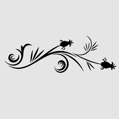 CH92 BUTTERFLY FLORA Reusable Stencil A3 A4 A5 Romantic Shabby Chic Craft