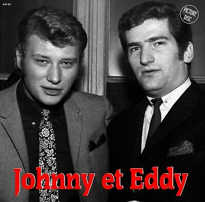 "Johnny Hallyday Eddy Mitchell 33t Picture Disc ""Johnny et Eddy"" CAT021"