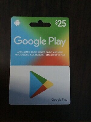 Google Play 25$ gift card