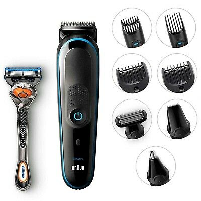 Braun 9-in-1 Beard Trimmer Nose Ear Head Hair Clipper Shaver Body Grooming Kit