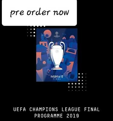 Liverpool v Spurs Tottenham 2019 UEFA Champions league final offical programme