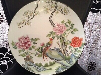 Antique Chinese Oriental Famille Rose Plate Decorative And Unique With Birds