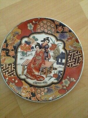 Antique Chinese Oriental Figural Imari Plate Decorative And signed