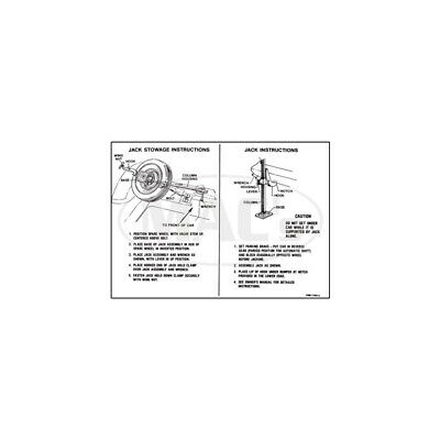 Jack Instructions Decal - Falcon 41-47184-1