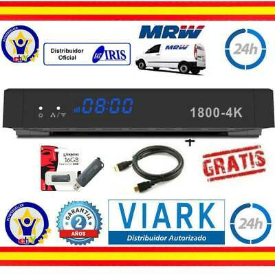 Iris 1800 4K  + Usb 16Gb Y Cable+ Mrw 24H + Cable Hdmi+ 24 Horas