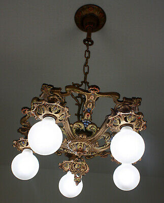 SWEET 20's Deco Victorian  Antique Vintage Ceiling Light Fixture CHANDELIER