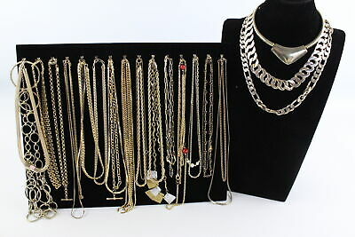 30 x Vintage & Retro Gold Tone NECKLACES inc. Rope Chain, Plaited, Curb Link