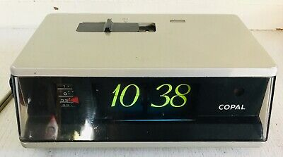 COPAL model LP-245 Vintage electronic flip clock with alarm Made in Japan