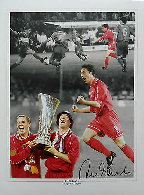 ROBBIE FOWLER Signed 16x12 Photo Montage LIVERPOOL Legend COA