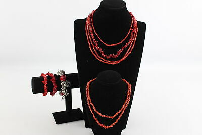 7 x Vintage & Modern CORAL JEWELLERY inc. Raw Coral, Beads