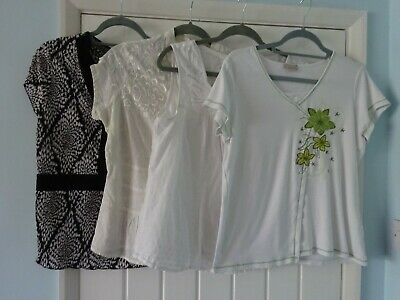 BUNDLE 4 LADIES TOPS SIZE 18 NEXT, M&S, SOON, M&Co
