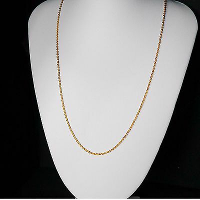 22k Real Looking Gold Black Beads Necklace Chain Kapa Jewelry Jewellery & Watches