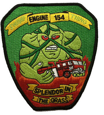"""New York City Engine 154 """"Swamp Thing""""(Created in the 90's) Fire Patch"""