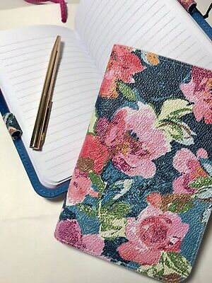 Vera Bradley Leatherette Journal Notepad With Mini Pen In Superbloom Nwt
