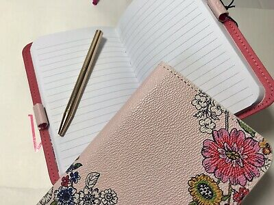 Vera Bradley Leatherette Journal Notepad With Mini Pen In Blush Floral Nwt