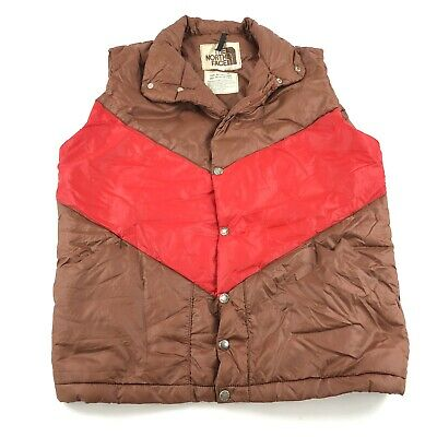 1a9db13c5 RARE VINTAGE TNF The North Face Puffer Vest 70's 80's Brown Tag Size ...