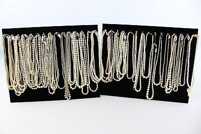 40 x Vintage & Retro FAUX PEARL Traditional Style NECKLACES