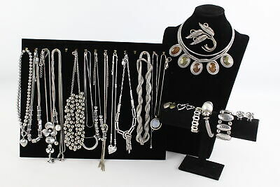 22 x Vintage & Retro Silver Tone MINIMALIST JEWELLERY inc. Statement Pieces