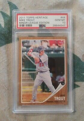 2011 Topps Heritage Minor League Edition #44 Mike Trout Rookie Rc Psa 10