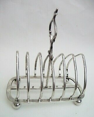 Superb Antique Victorian HUKIN & HEATH Silver Plated Toast Rack