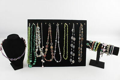 20 x Vintage GEMSTONE JEWELLERY inc. Malachite, Amethyst, Peridot, Statement