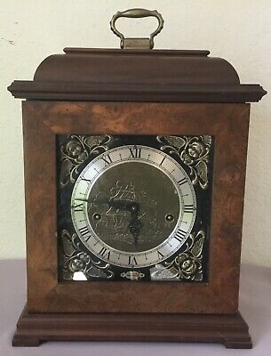 Wuersch Wooden Carriage Clock - Franz Hermle - Westminster Chime - West Germany