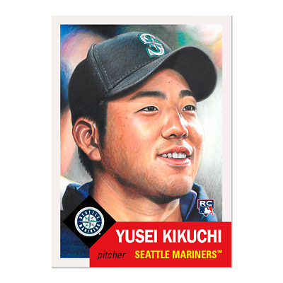 Yusei Kikuchi Topps Living Set Card #185 SEATTLE MARINERS RC ROOKIE CARD